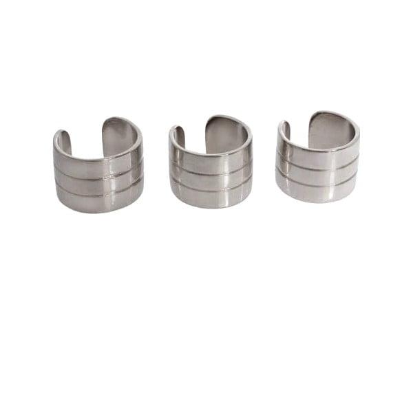 Set tří prstenů ve stříbrné barvě