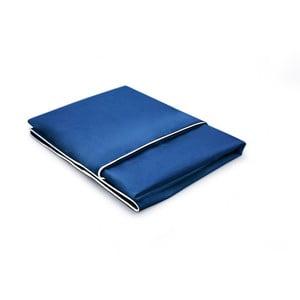 Tmavě modrý povlak na polštář z bavlněného perkálu L'Officiel Interiors Linea, 50x70cm