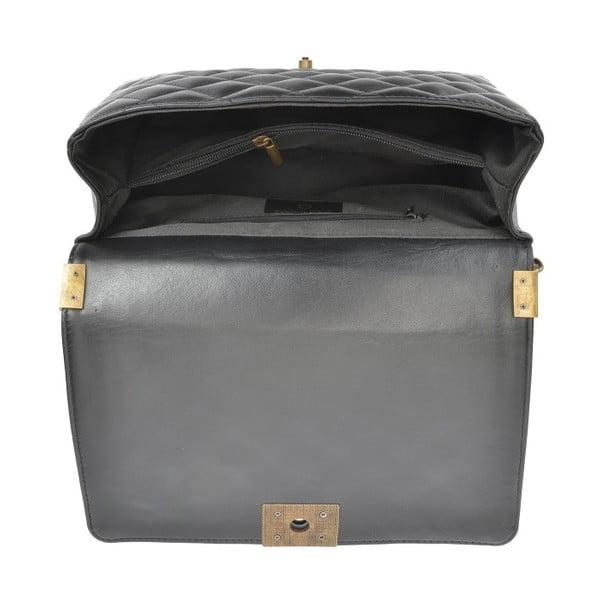 Černá kožená kabelka Anna Luchini Karmu