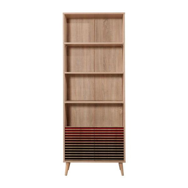 Knihovna Booki Red Classic, 198 x 75 cm