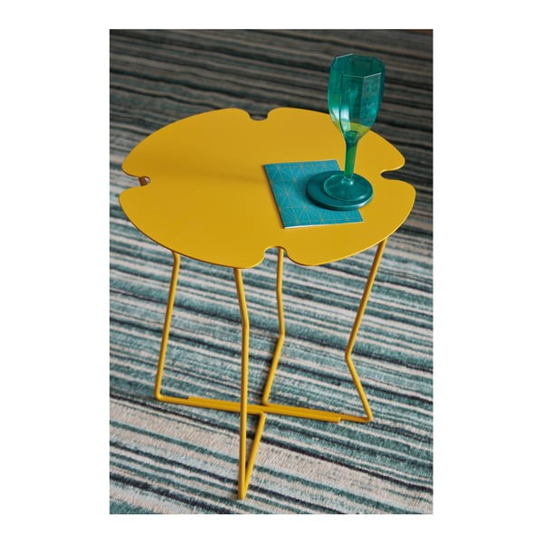 Žlutý odkládací stolek MEME Design Corolla