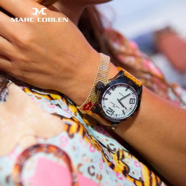Dámské hodinky Marc Coblen s páskem a kroužkem navíc P25