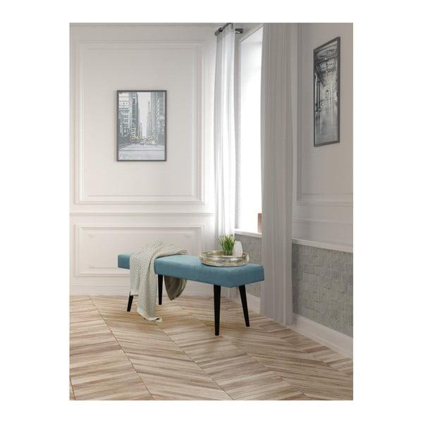 Tyrkysová čalouněná lavice Helga Interiors Kate
