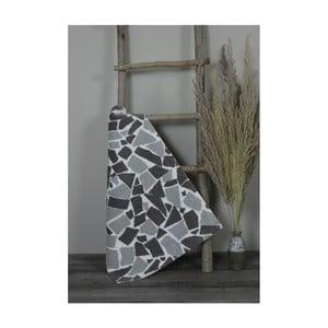 Šedo-černá bavlněná koupelnová předložka My Home Plus Mosaic, 51 x 76 cm