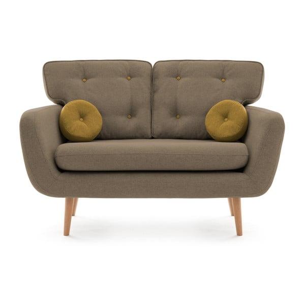 Canapea cu 2 locuri Vivonia Malva, bej