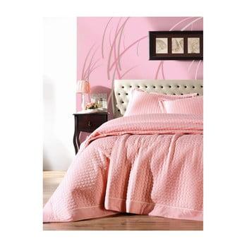 Lenjerie de pat Paradiso Puro Rosa, 180 x 230 cm de la Cotton Box