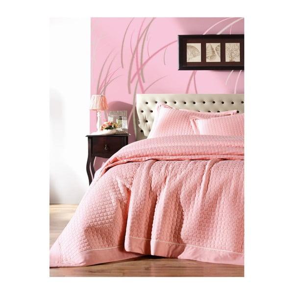 Paradiso Puro Rosa kétszemélyes rózsaszín ágyneműhuzat, 180 x 230 cm