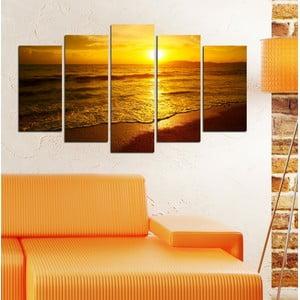 5dílný obraz Slunce nad mořem