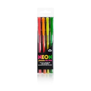 Sada 4 neonových gelových popisovačů NPW Neon