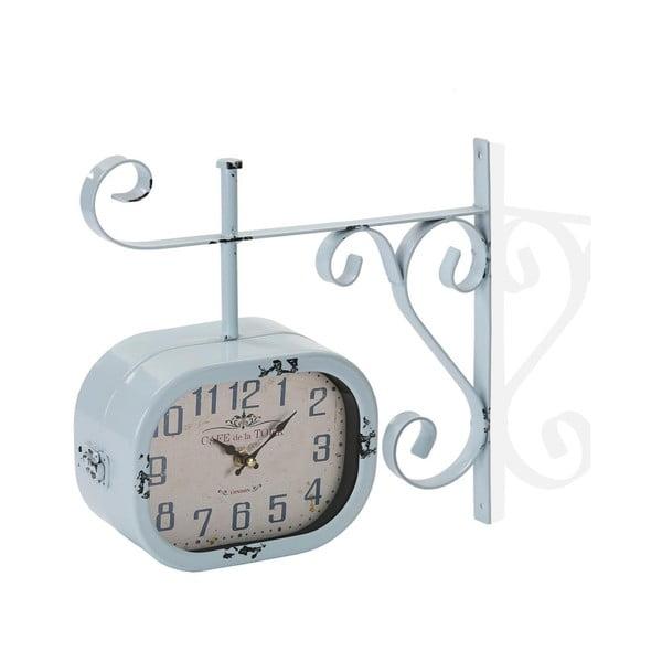 Modré nástěnné hodiny Versa Lado