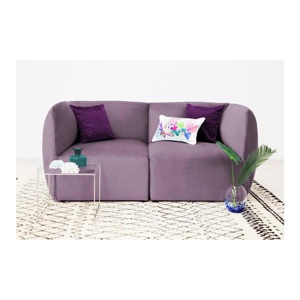 Lila fialový pravý rohový modul pohovky Vivonita Velvet Cube