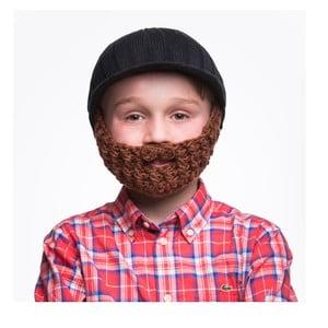 Căciulă cu barbă, pentru copii, Beardo Kids, negru-maro