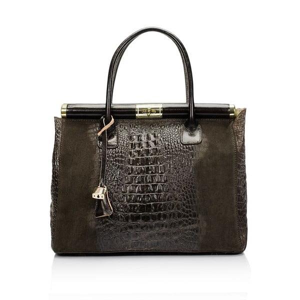 Kožená kabelka Markese 7017 Dark Brown