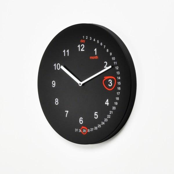 Nástěnné hodiny Save the Date, černé
