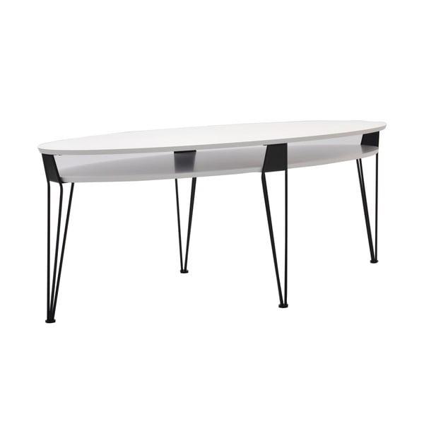 Konferenční stolek Ester 130x59 cm, černé nohy