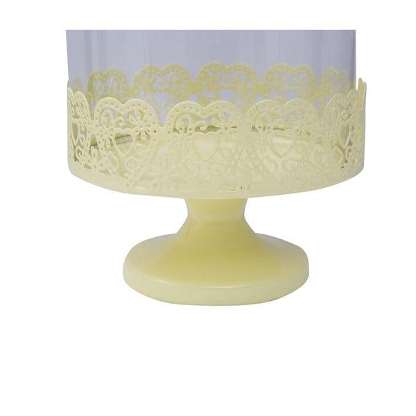 Stojan na dorty Dolci 29 cm, žlutý