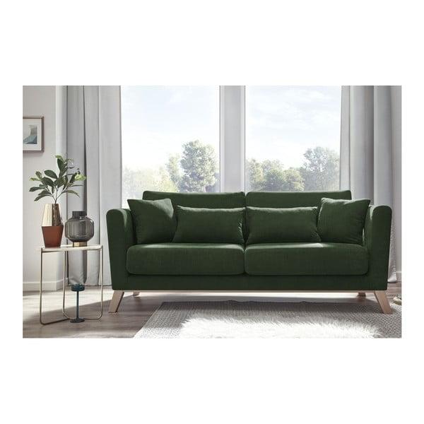 Zielona sofa 3-osobowa Bobochic Paris Doblo