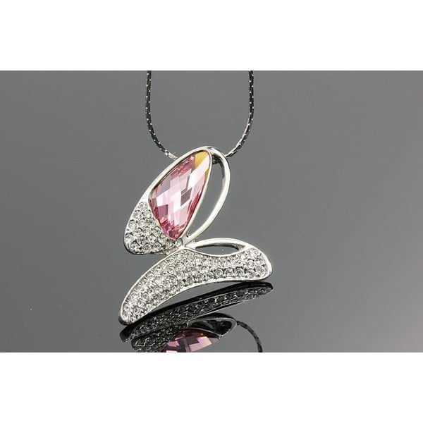 Náhrdelník Swarovski Elements Butterfly Pink