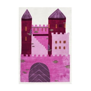 Covor pentru copii Happy Rugs Pink Castle, 120x180 cm