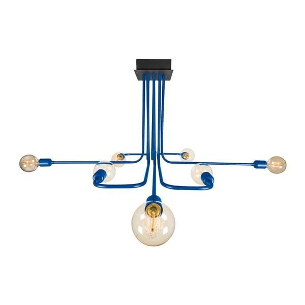Námořnicky modré stropní svítidlo Spider