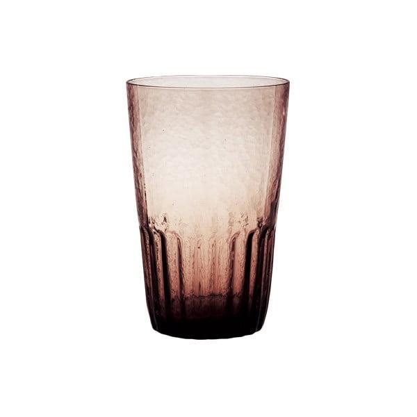 Oranžová sklenice Kinto Dew, 420 ml