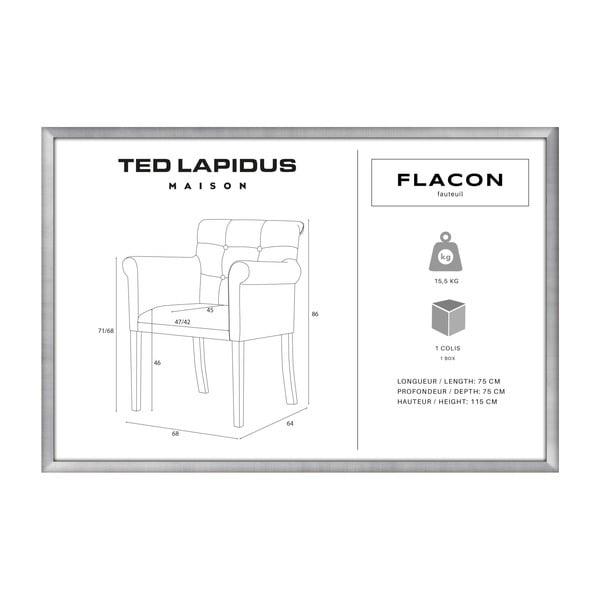 Růžová židle s tmavě hnědými nohami z bukového dřeva Ted Lapidus Maison Flacon