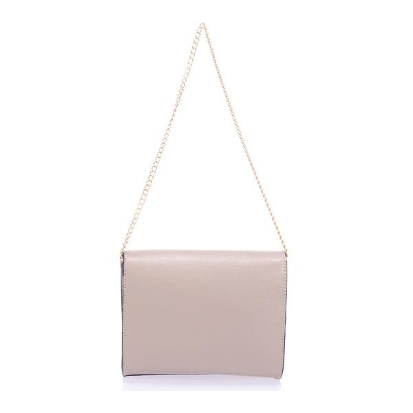 Béžová kožená kabelka Massimo Castelli Anys