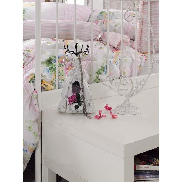 Růžové povlečení s prostěradlem Love Colors Sarah, 200 x 220 cm