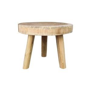 Příruční dřevěný stolek HSM collection Munggur, ⌀ 45 cm