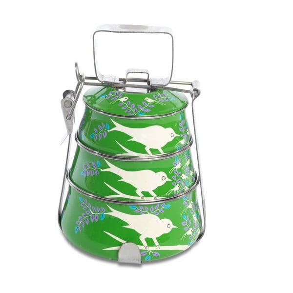 Jídelní misky Eva Hand Painted Tiffin, zelená