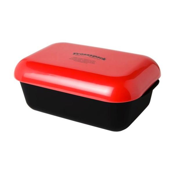 Chladící svačinový box Frozzypack Original, black/red