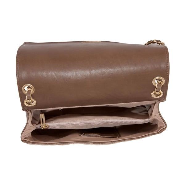 Světle hnědá kožená kabelka Andrea Cardone 2024