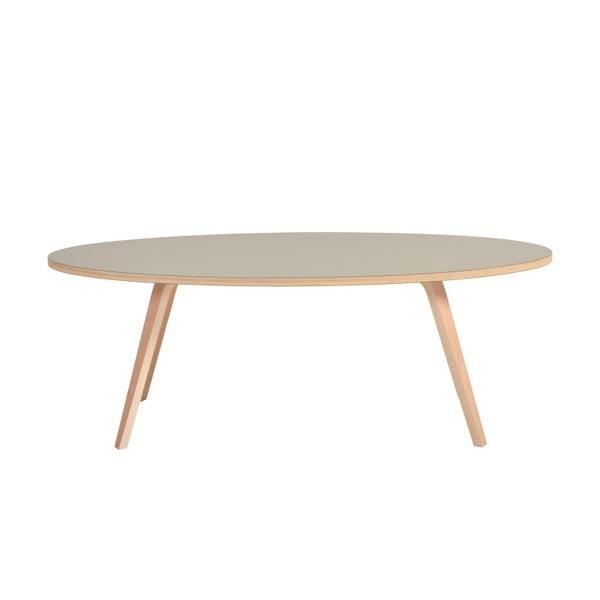 Zelený oválný konferenční stolek Garageeight Arvika