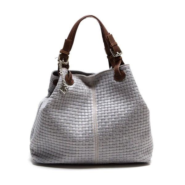 Kožená kabelka Lola, šedá