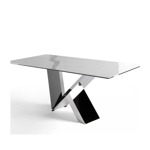 Jídelní stůl z nerezového kovu a porcelánu Ángel Cerdá Dining, 95 x 220 cm