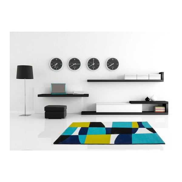 Koberec Lifestyle 171 black/aqua, 160x230 cm