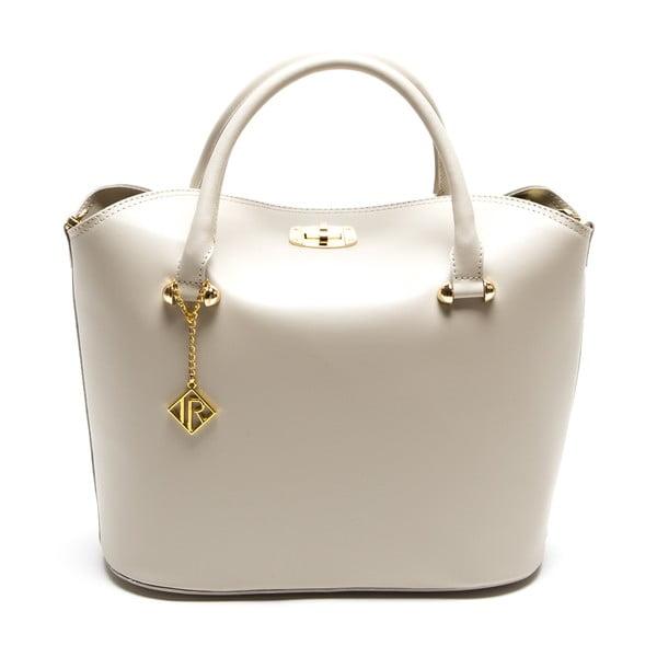 Kožená kabelka Isabella Rhea 396, krémová