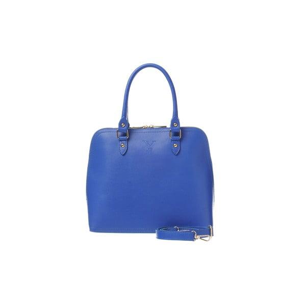 Kožená kabelka Fan Bag Blue