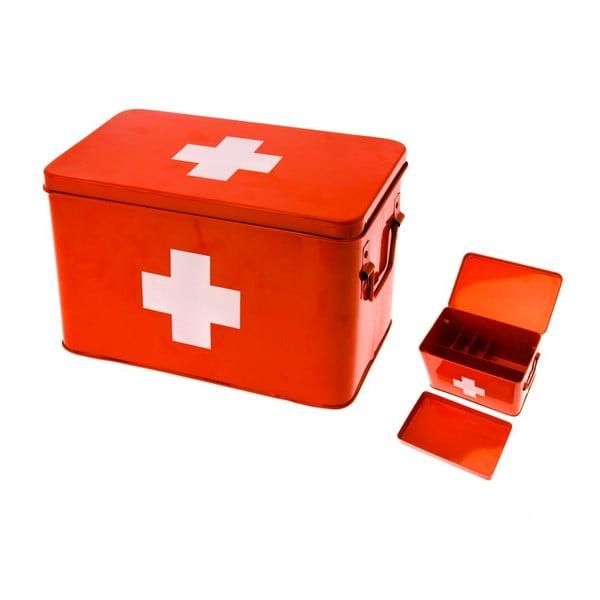 Lékarnička Present Time Medicine Red, malá