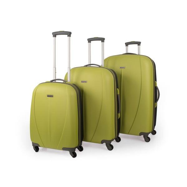 Sada 3 kufrů Tempo, zelená