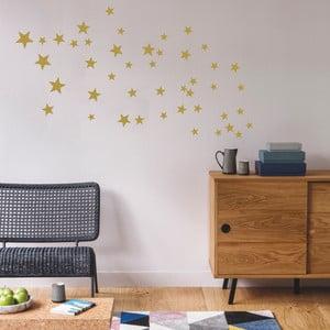 Nástěnné samolepky ve zlaté barvě Art For Kids Stars
