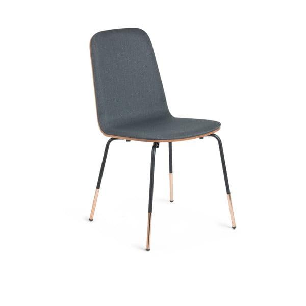 Sivá stolička La Forma Chrystel