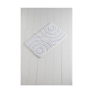Bílá koupelnová předložka Confetti Bathmats Wave White, 60 x 100 cm