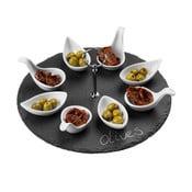 4dílný břidlicový servírovací set Premier Housewares Appetiser, ⌀ 30 cm