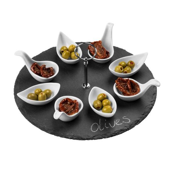 Břidlicový servírovací set Premier Housewares Appetiser Round