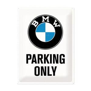 Plechová cedule BMW Parking, 30x40 cm