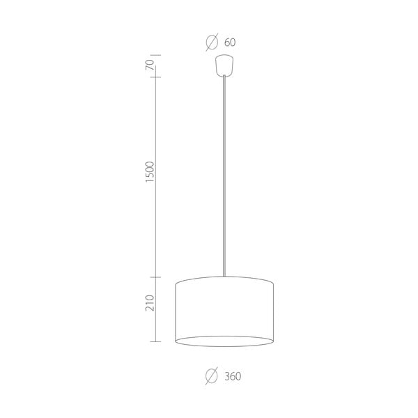 Stropní lampa Tres, černá, průměr 36 cm