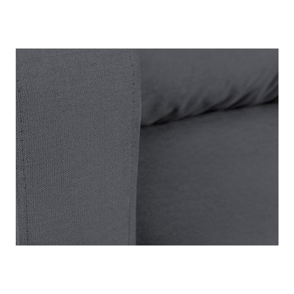 Tmavě šedá rozkládací třímístná pohovka Mel Art Lorenzo