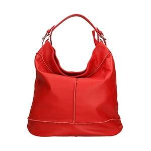 Červená kožená kabelka Roberto Buono Diana