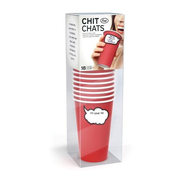 Sada 18 párty kelímků Fred & Friends Chit Chats